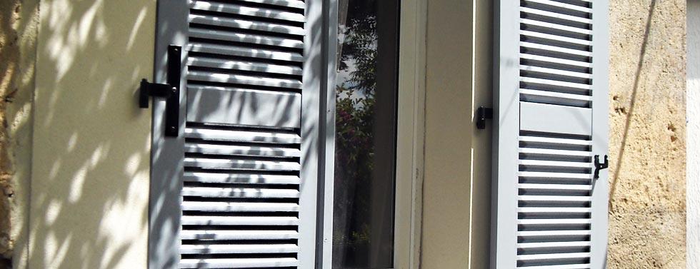 volets roulants volets battants sur mesure en pvc aluminium ou bois. Black Bedroom Furniture Sets. Home Design Ideas